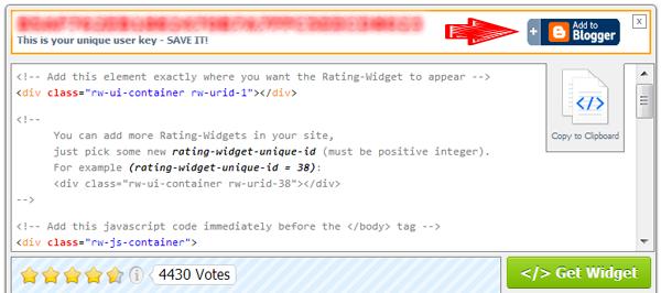 Add Gadget to Blogger Button